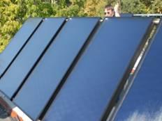 napelem, melegvíz előállítás