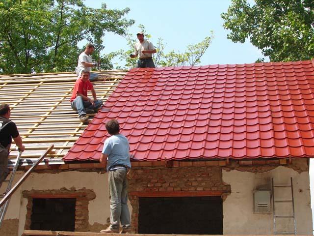 tetőfelrakás