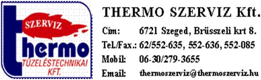 THERMO SZERVIZ Kft- Egészségre nevelő és szemléletformáló életmódprogramok a Thermo Szervíz Tüzeléstechnikai Kft.-nél TÁMOP-6.1.2-11/1-2012-0215